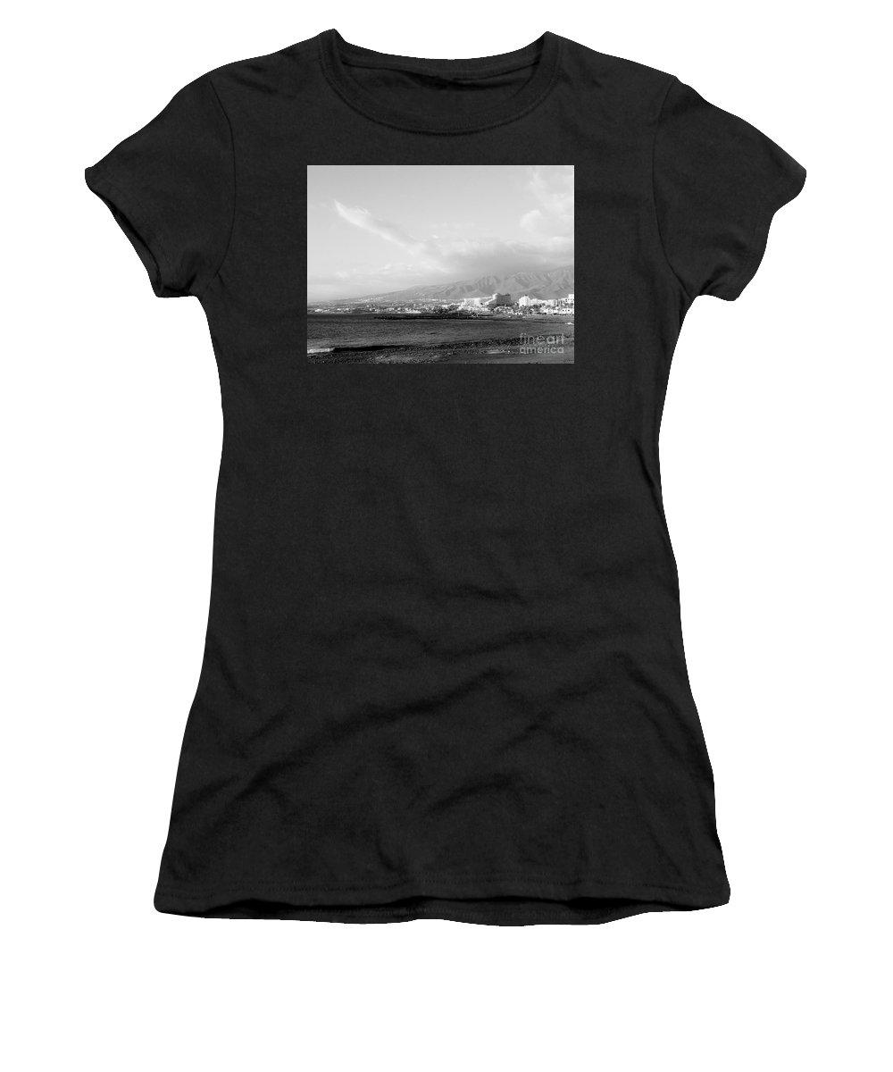 Foto Women's T-Shirt featuring the photograph Tenerife / Playa De Las Americas3 by Karina Plachetka