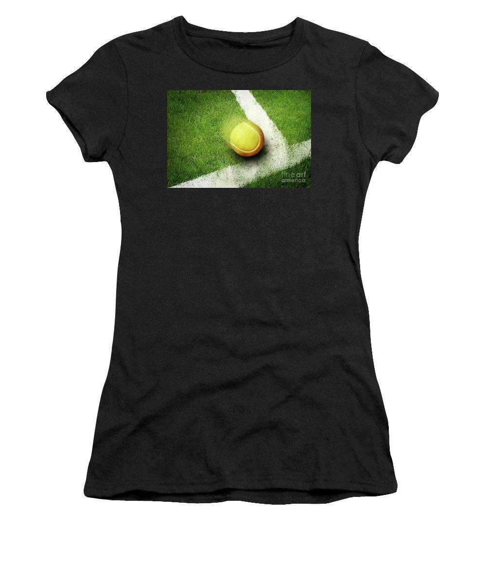 Tennis Women's T-Shirt (Athletic Fit) featuring the digital art Tennis Point by Giordano Aita
