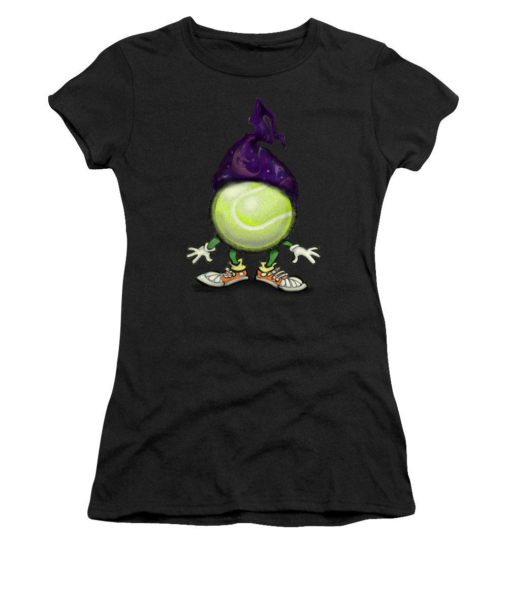 Tennis Women's T-Shirt featuring the digital art Tennis Wiz by Kevin Middleton