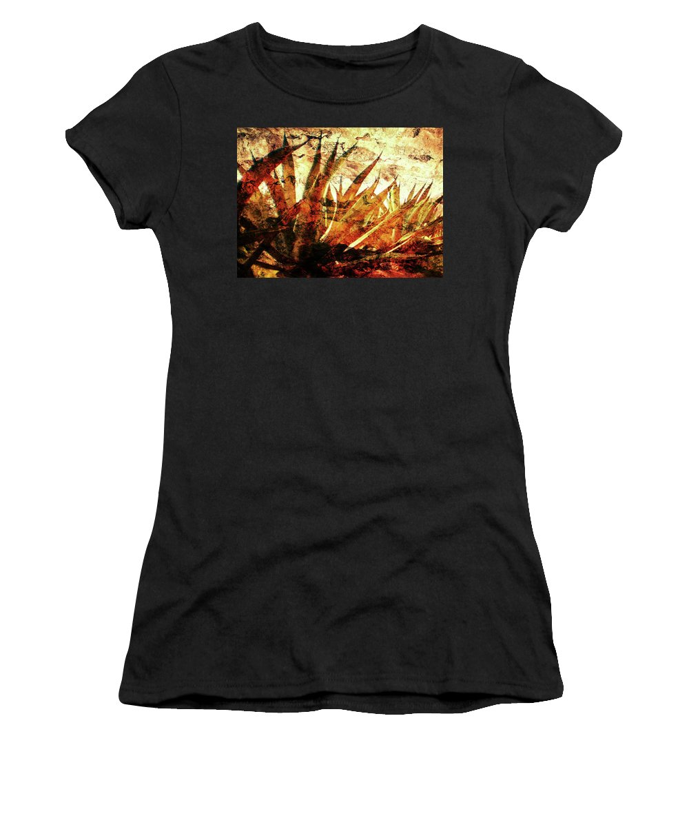 Agave Paintings Women's T-Shirt featuring the digital art T E Q U I L A  . F I E L D by J - O  N  E