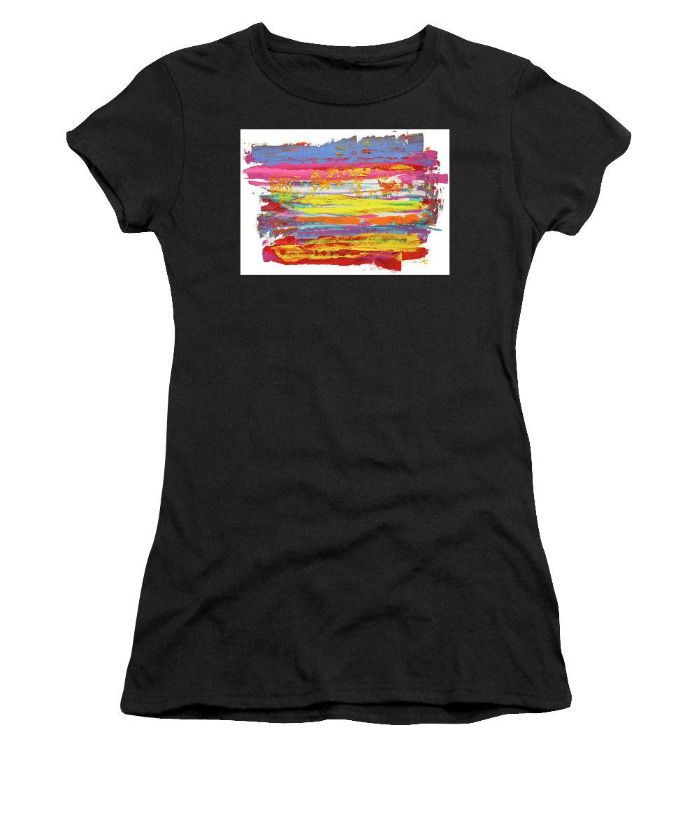 Contemporary Women's T-Shirt featuring the painting Tequila Sunrise by Bjorn Sjogren