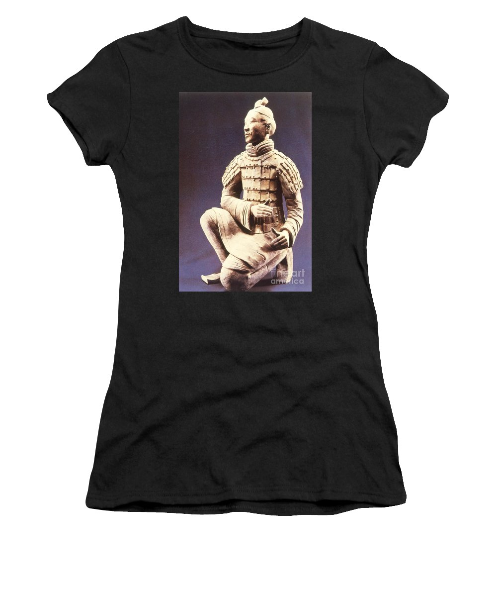 Terracotta Army Women's T-Shirt featuring the photograph Terracotta Soldier by Heiko Koehrer-Wagner