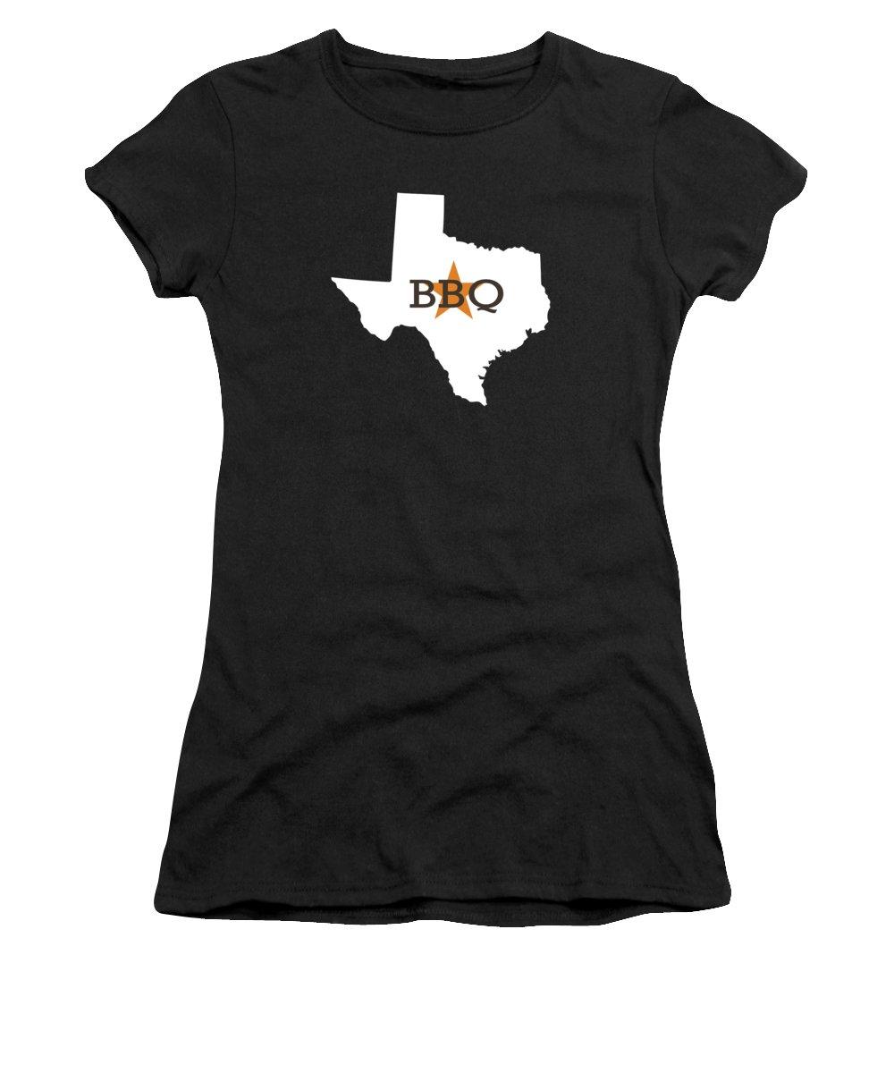 Bbq Women's T-Shirt featuring the digital art Texas Bbq by Nancy Ingersoll