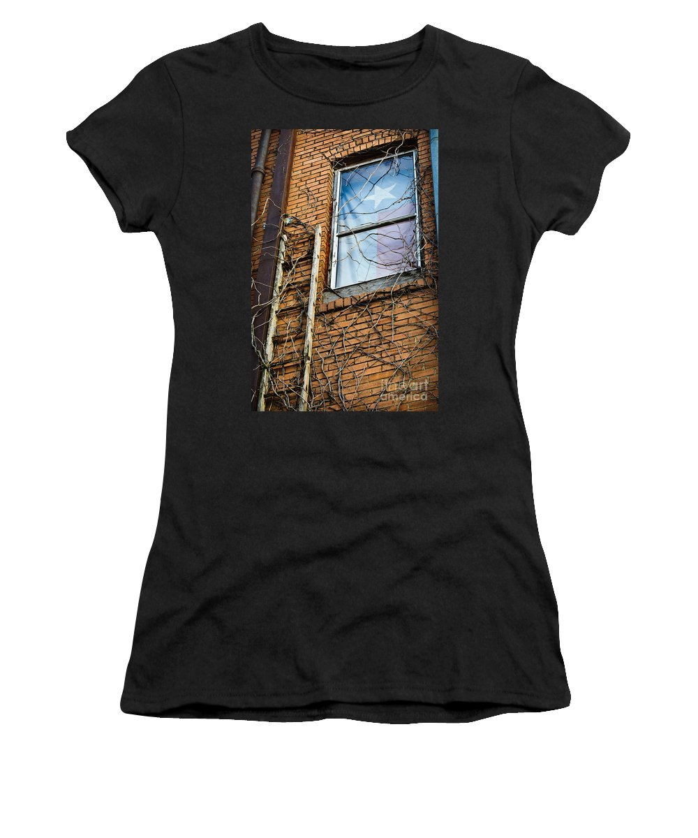 Wall Women's T-Shirt (Athletic Fit) featuring the photograph Texas Drapes by Charles Dobbs