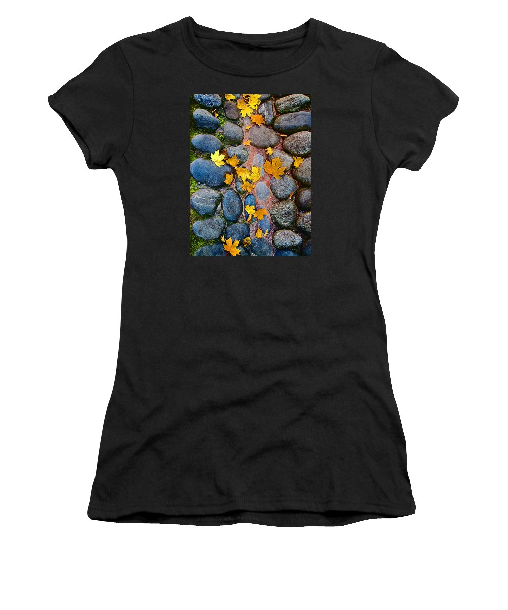 Texture Autumn Women's T-Shirt (Athletic Fit) featuring the photograph Texture. Autumn. by Andy Za