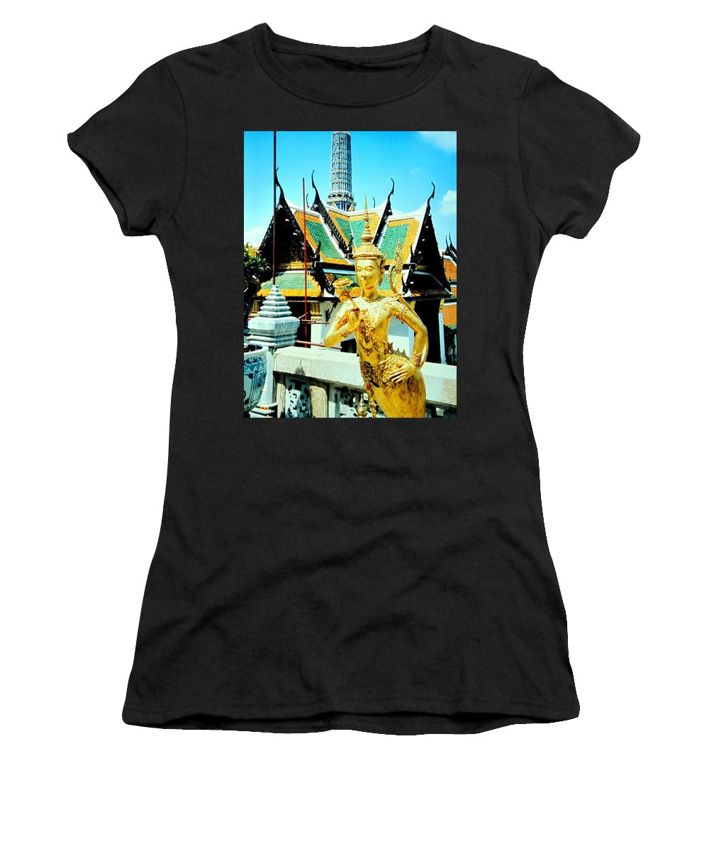 Bangcock Women's T-Shirt (Athletic Fit) featuring the photograph Thailand by Ian MacDonald