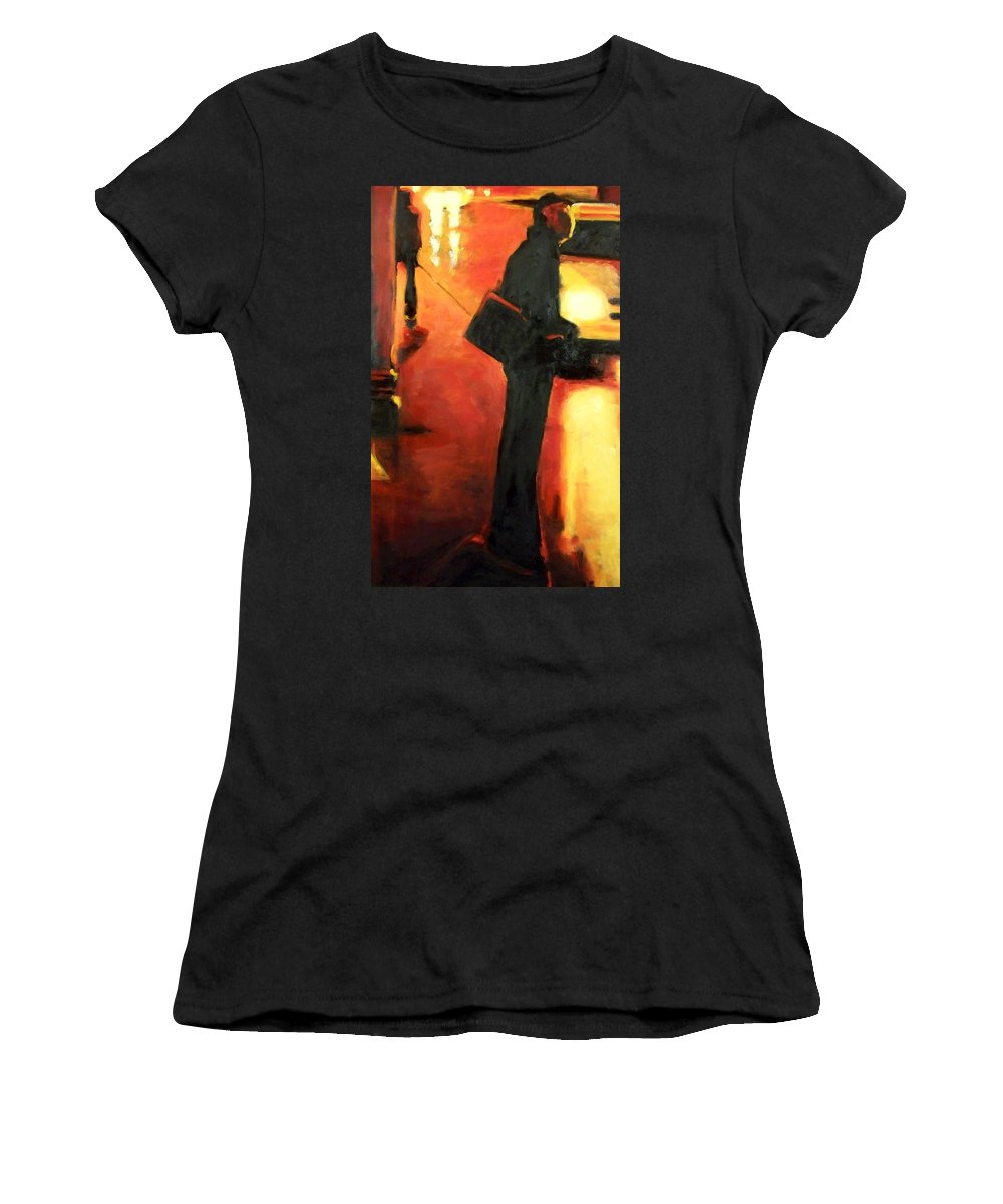 Rob Women's T-Shirt featuring the painting That First Step by Robert Reeves