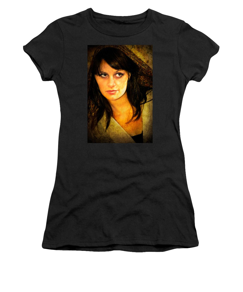 Woman Women's T-Shirt (Athletic Fit) featuring the photograph That Look by Rich Leighton