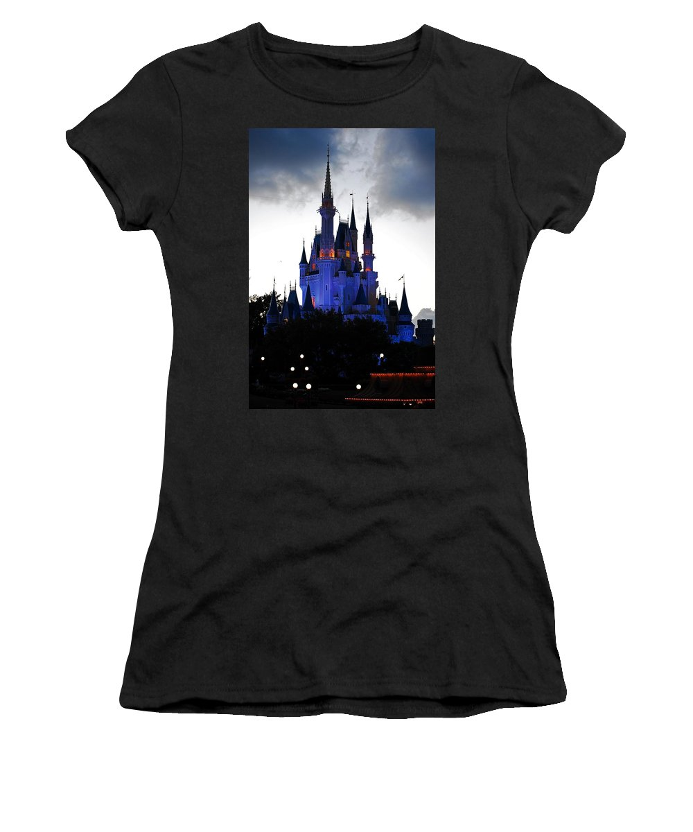 Disney Women's T-Shirt featuring the photograph The Amethyst Palace by Robert Meanor