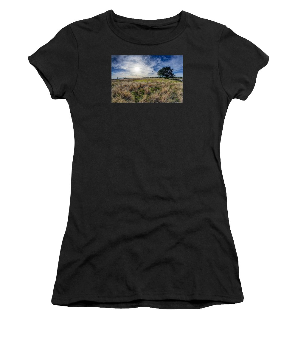The Back Forty Ii Women's T-Shirt (Athletic Fit) featuring the photograph The Back Forty II by Bob Marquis