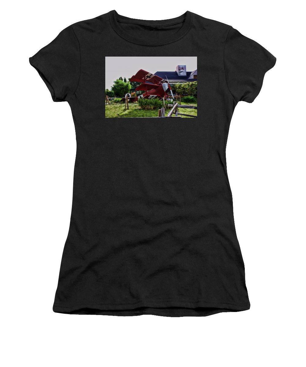 Ww 1 Women's T-Shirt (Athletic Fit) featuring the digital art The Baron by Tommy Anderson