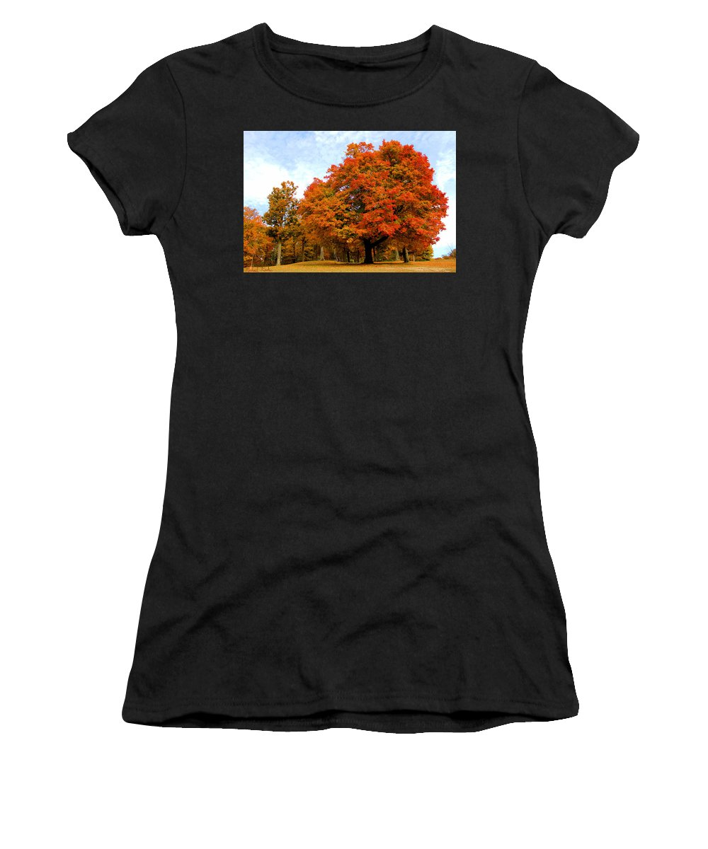 Autumn Women's T-Shirt featuring the photograph The Beauty Of Autumn by Michael Rucker
