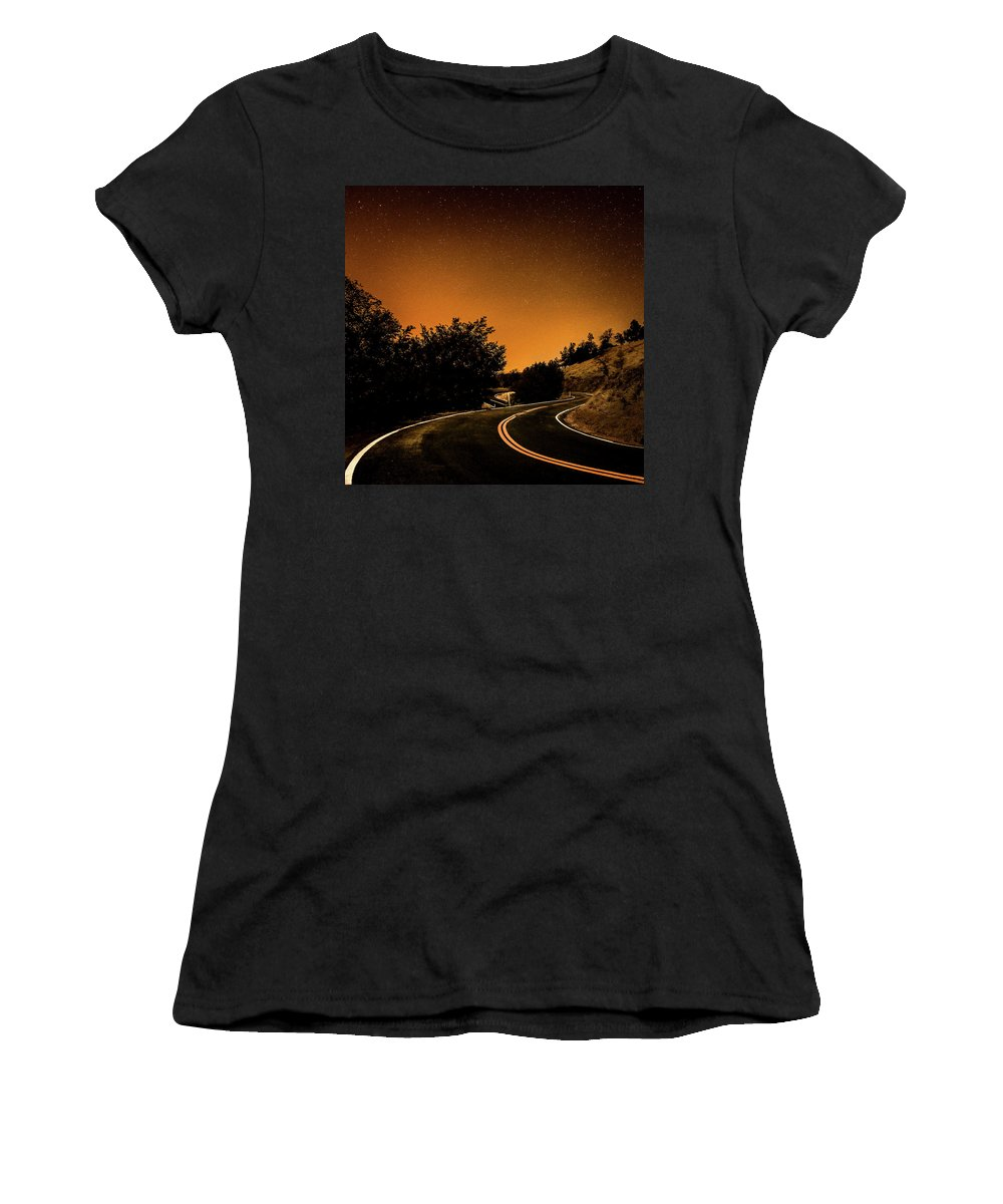 Mt. Hamilton Lick Obervatory Women's T-Shirt featuring the photograph The Bet by Mario Mariscal