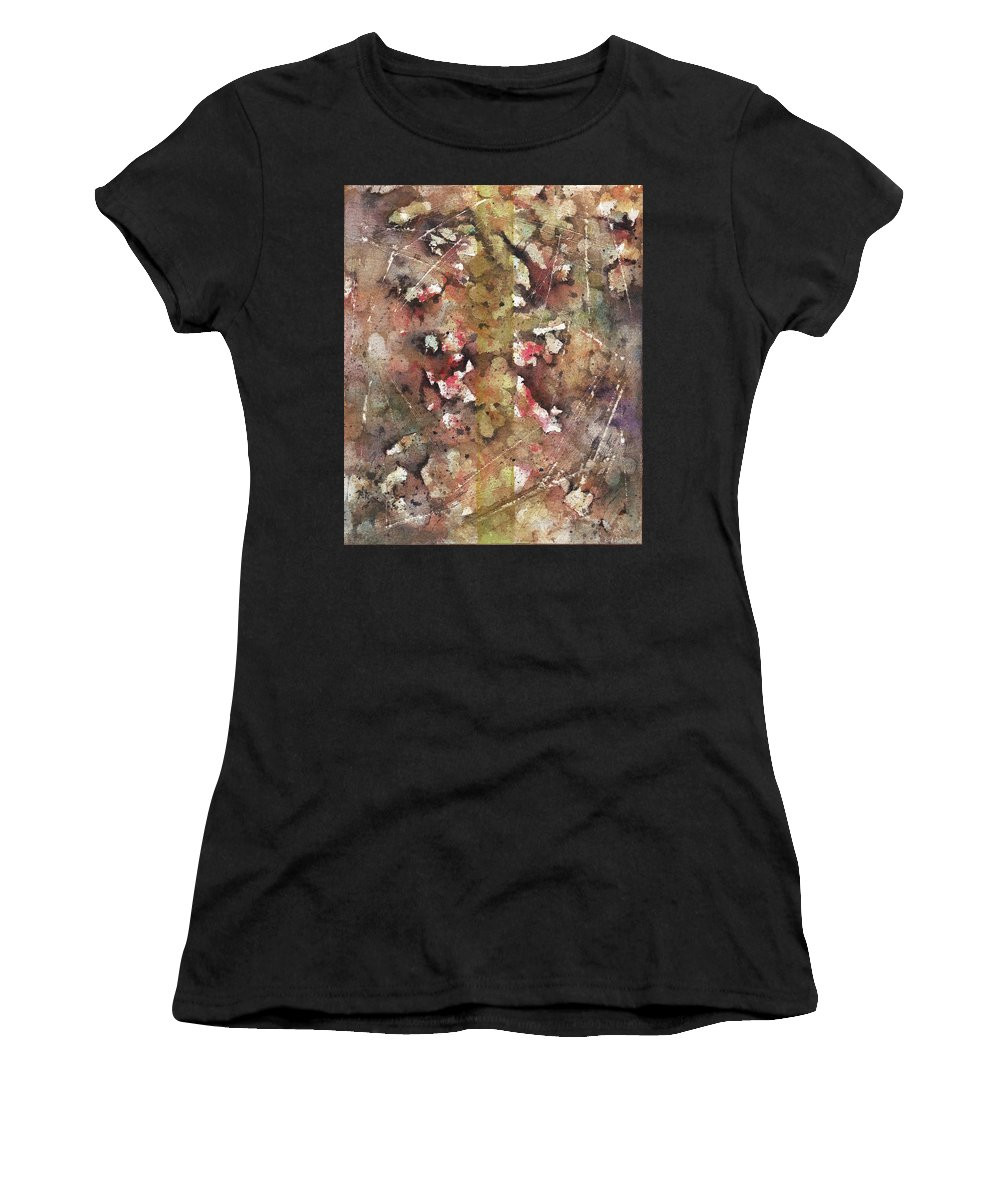 Bicycle Women's T-Shirt (Athletic Fit) featuring the painting The Bike Path by Rachel Christine Nowicki