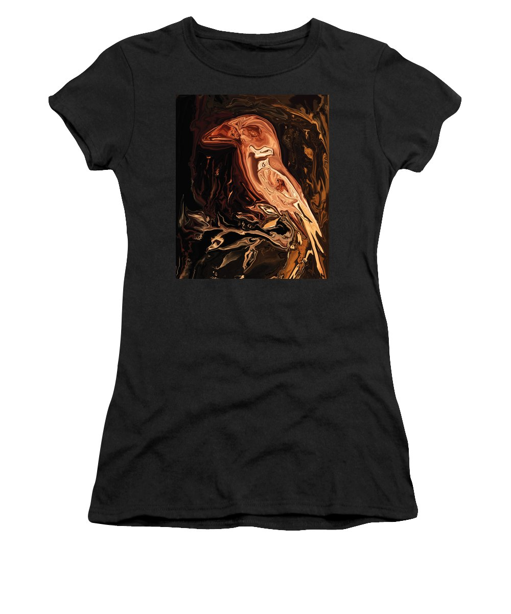 Art Women's T-Shirt (Athletic Fit) featuring the digital art The Bird Unknown 2 by Rabi Khan