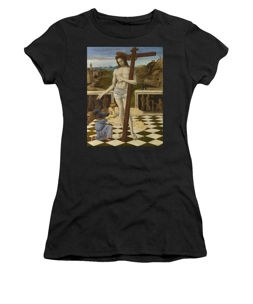 Giovanni Women's T-Shirt (Athletic Fit) featuring the digital art The Blood Of The Redeemer by PixBreak Art