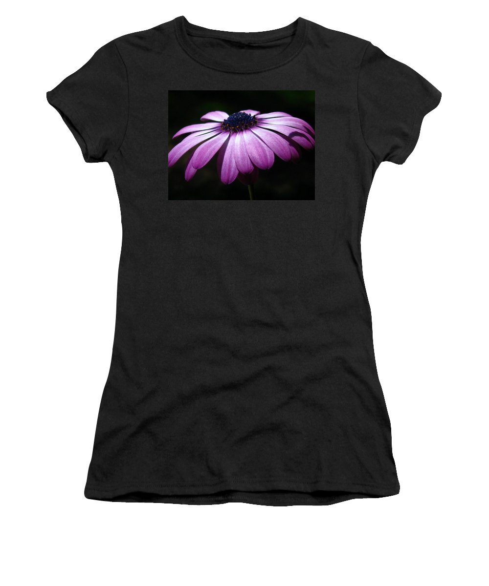 Purple Women's T-Shirt (Athletic Fit) featuring the photograph The Blues by Marla McFall