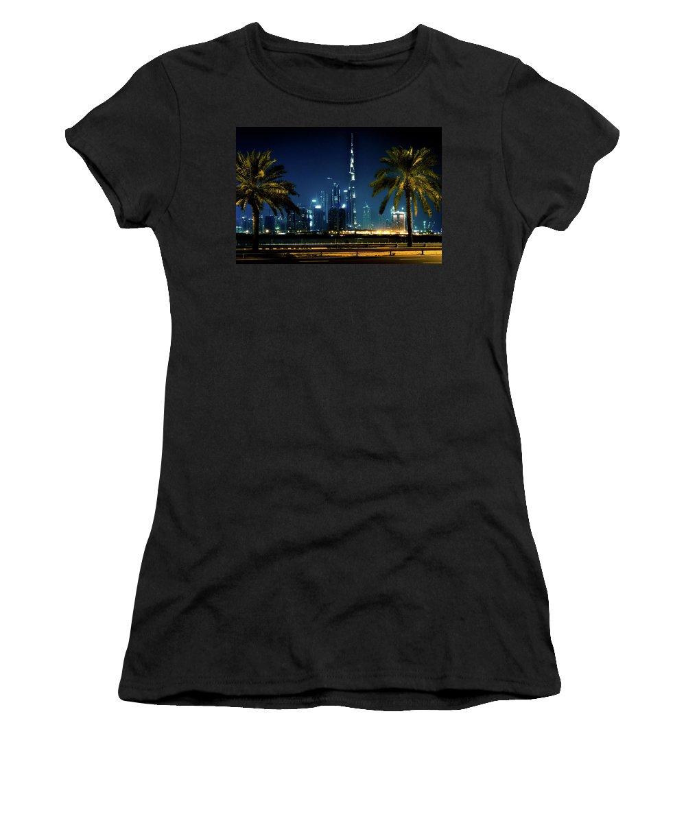 Dubai Women's T-Shirt featuring the photograph The Burj Khalifa by Andrew Matwijec