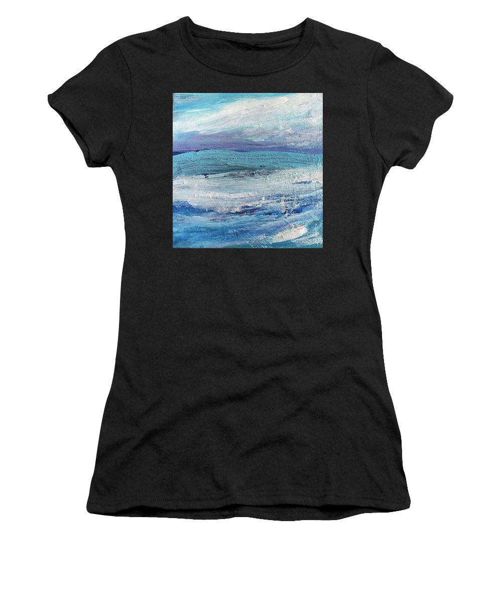 Calm Women's T-Shirt (Athletic Fit) featuring the painting The Calm Before The Storm by Sherry Harradence
