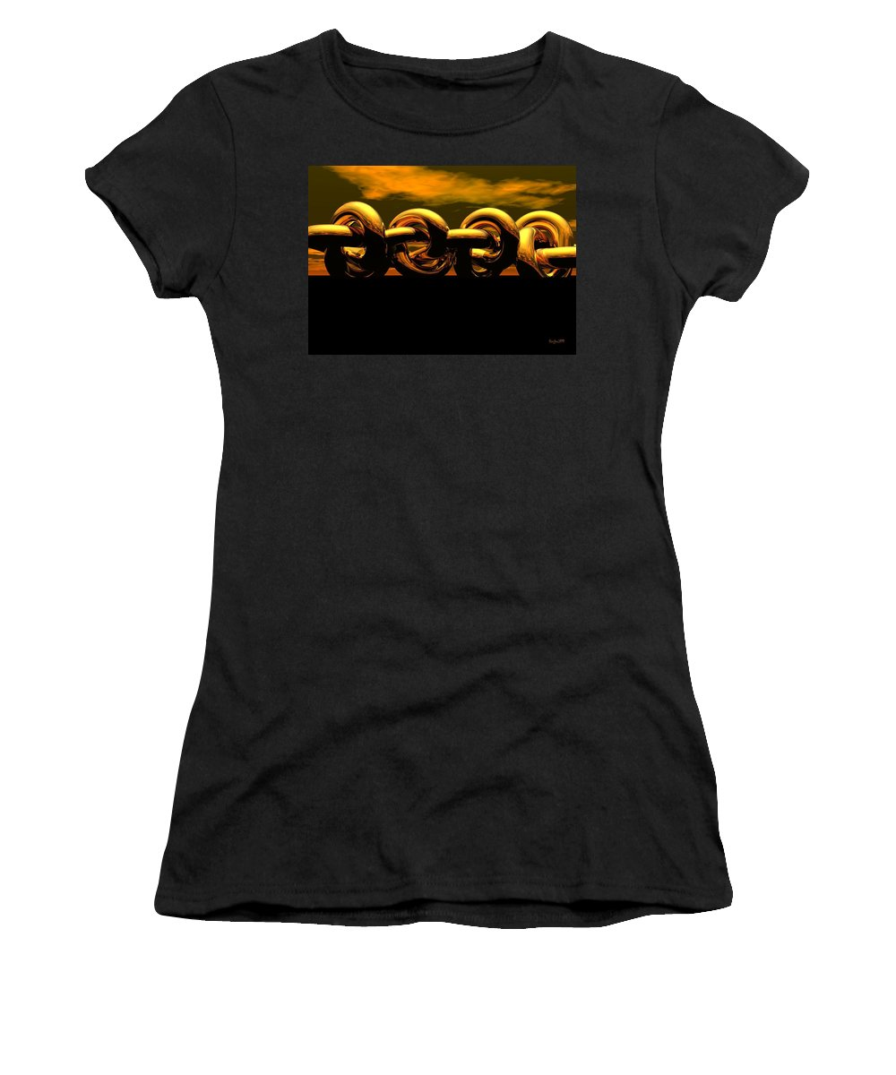 Chain Women's T-Shirt (Athletic Fit) featuring the digital art The Chain by Robert Orinski