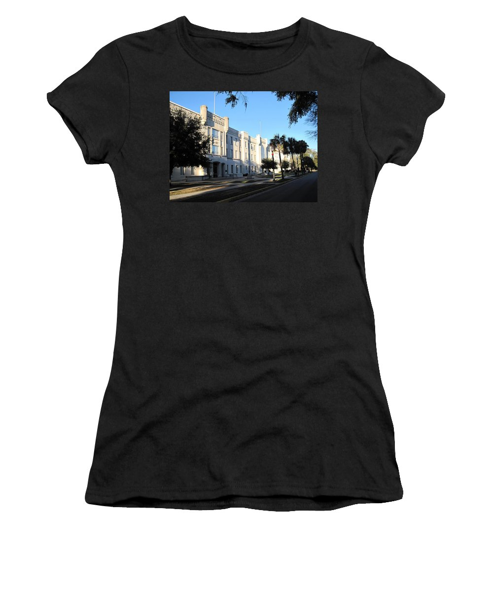 Photography Women's T-Shirt (Athletic Fit) featuring the photograph The Citadel In Charleston IIi by Susanne Van Hulst