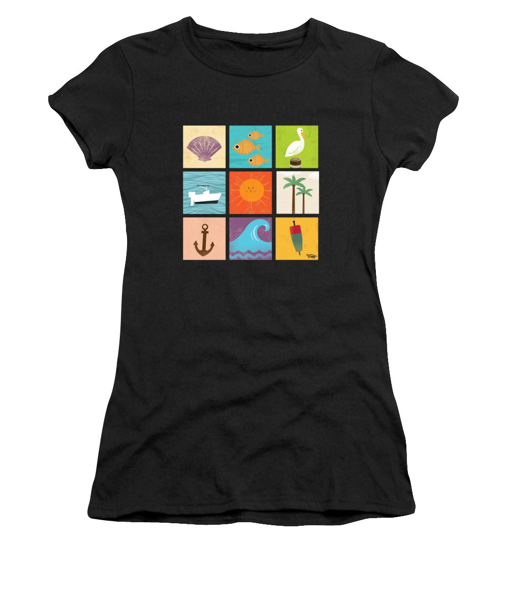 Ocean Women's T-Shirt (Athletic Fit) featuring the digital art The Coast Life by Kevin Putman