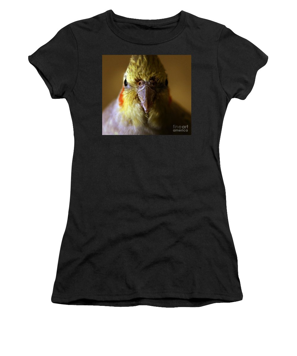 Cockatiel Women's T-Shirt (Athletic Fit) featuring the photograph The Cockatiel by Angel Tarantella