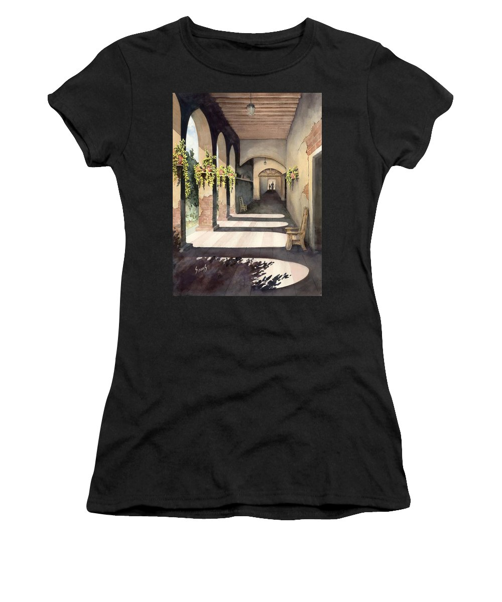 Plants Women's T-Shirt (Athletic Fit) featuring the painting The Corridor 2 by Sam Sidders