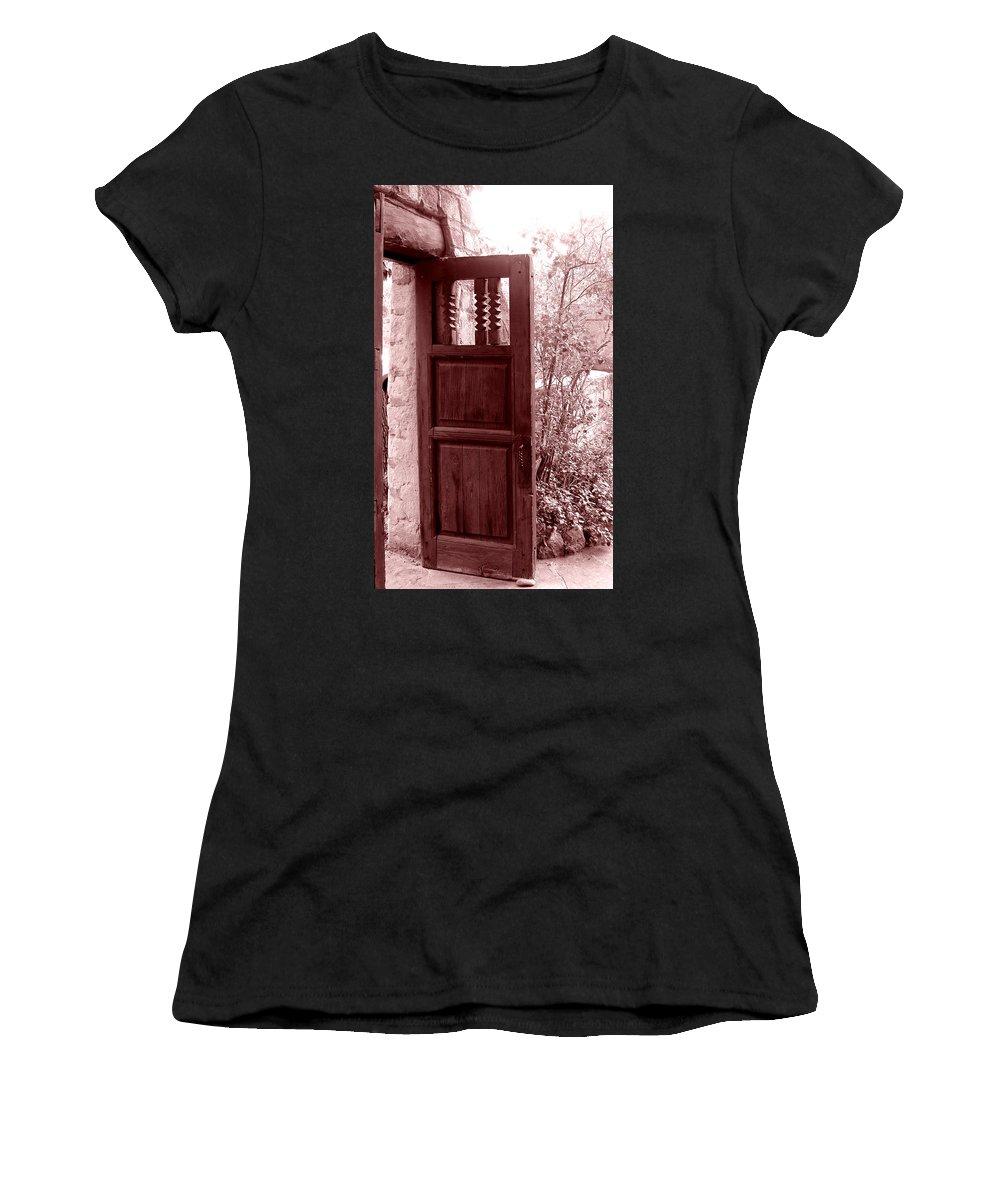 Door Women's T-Shirt featuring the photograph The Door by Wayne Potrafka