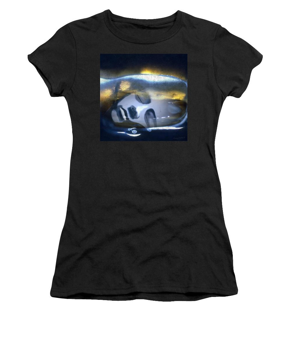 Dream Sky Universe Methaphysics Aura Afterlife Women's T-Shirt (Athletic Fit) featuring the digital art The Dream by Veronica Jackson