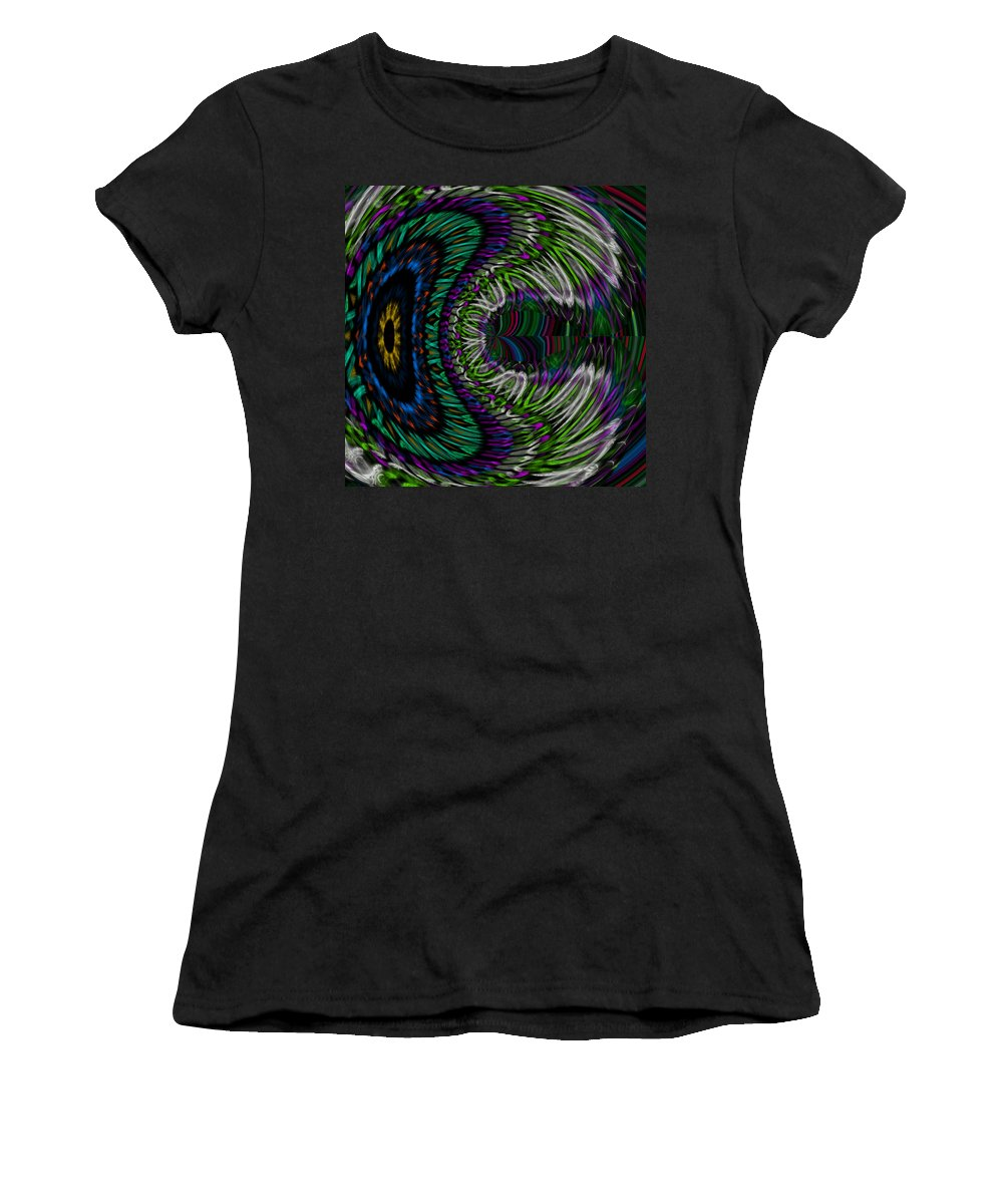 James Smullins Women's T-Shirt (Athletic Fit) featuring the digital art The Dreaming Eye by James Smullins