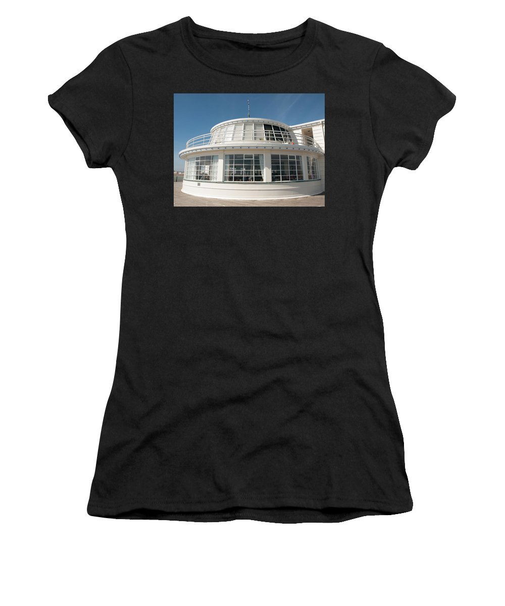 Piers Women's T-Shirt (Athletic Fit) featuring the photograph The End Of The Pier by Josie Gilbert