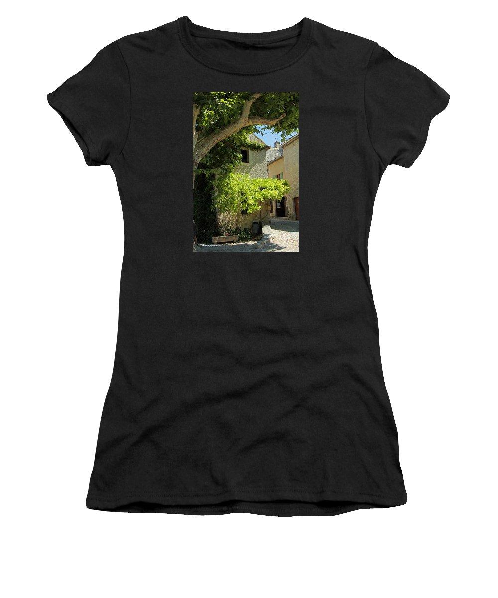Village Women's T-Shirt featuring the photograph The Flower Box by John Stuart Webbstock