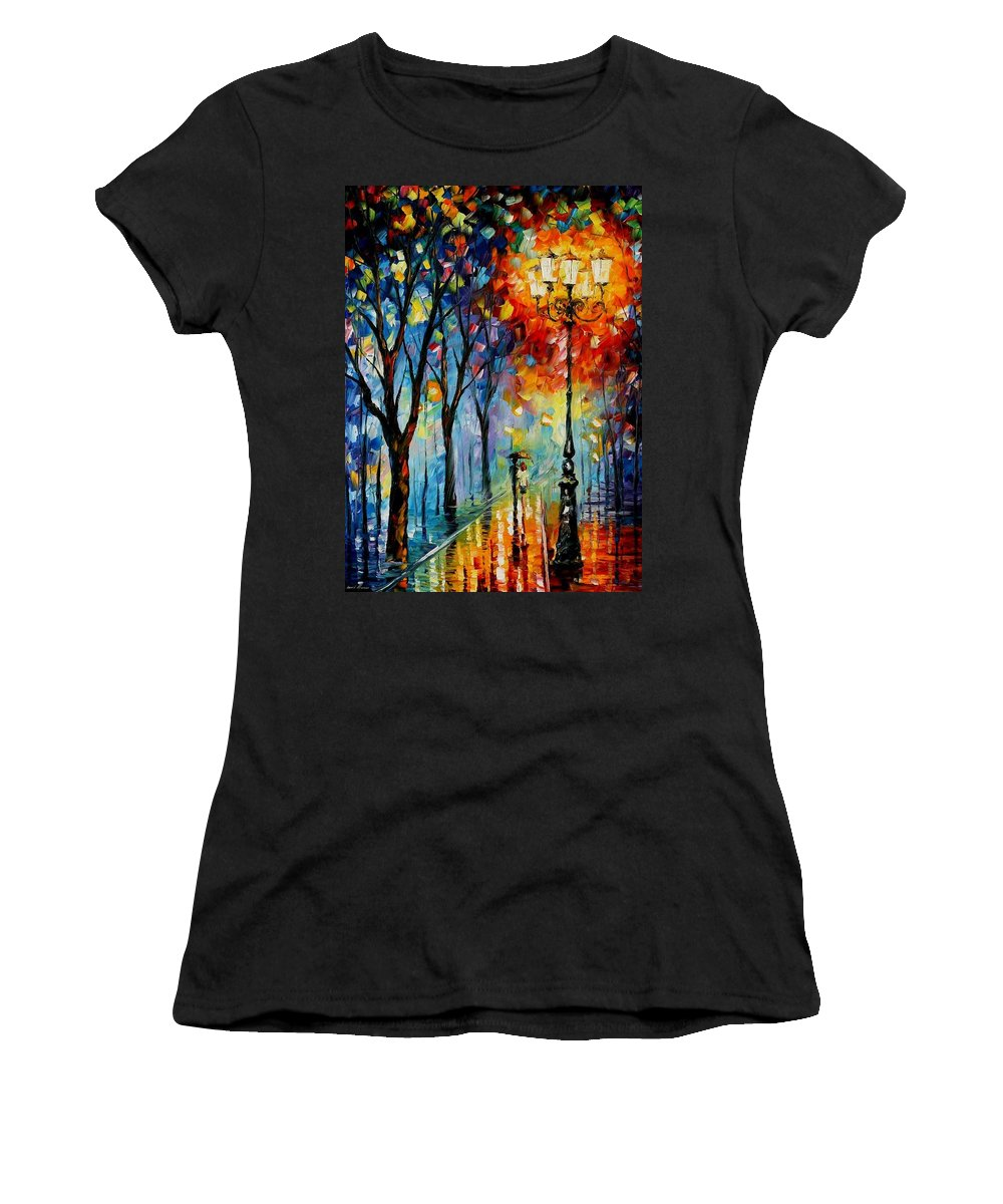 Afremov Women's T-Shirt featuring the painting The Fog Of Dreams by Leonid Afremov