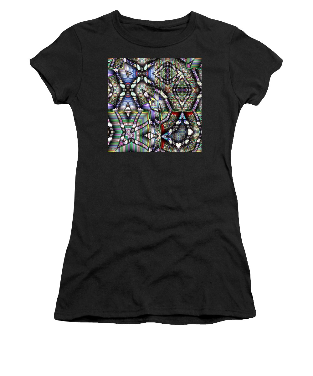 Abstract Women's T-Shirt (Athletic Fit) featuring the painting The Four Horsemen Of The Apocalypse by RC deWinter