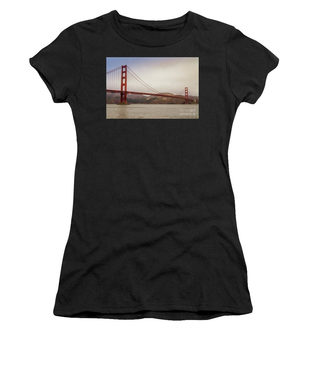 San Francisco Women's T-Shirt (Athletic Fit) featuring the photograph The Frisco Bridge by Mirko Chianucci