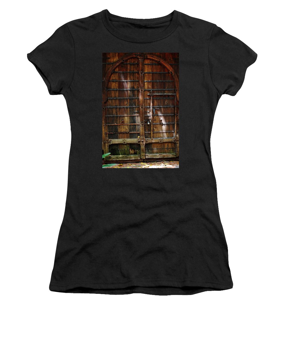 The Gate Women's T-Shirt (Athletic Fit) featuring the photograph The Gate by Robert Meanor