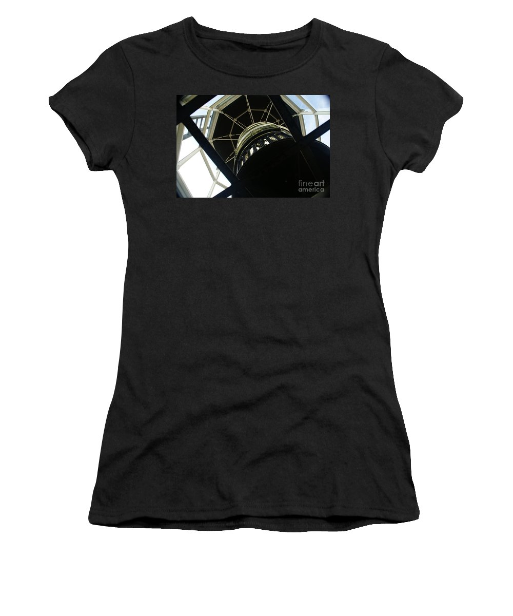 Lighthouse Women's T-Shirt (Athletic Fit) featuring the photograph The Ghost Within by Linda Shafer