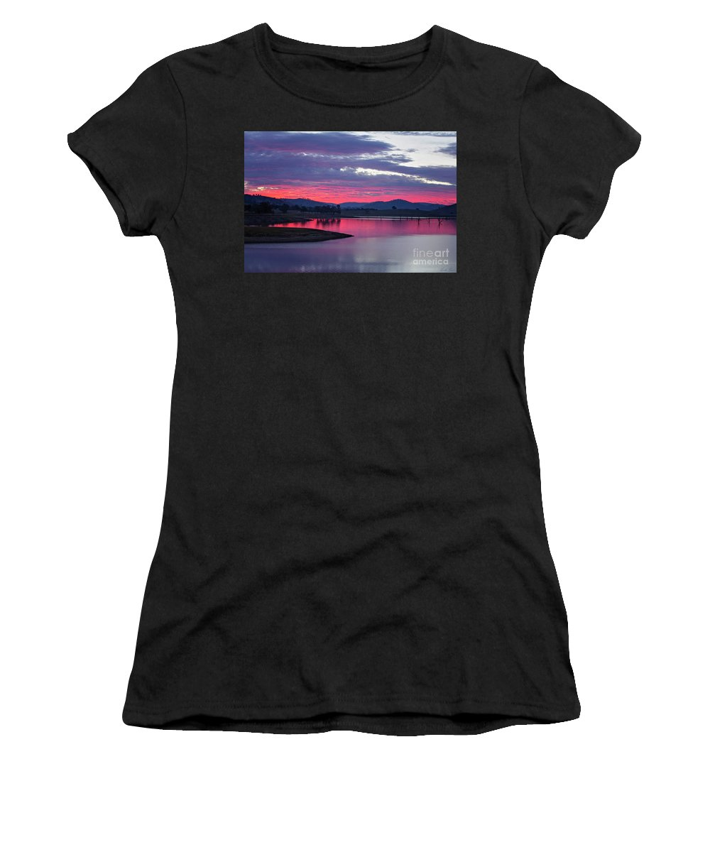 Sunset Women's T-Shirt featuring the photograph The Gloaming by Linda Lees