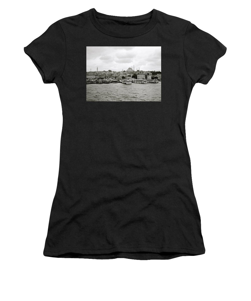 Istanbul Women's T-Shirt (Athletic Fit) featuring the photograph The Golden Horn by Shaun Higson