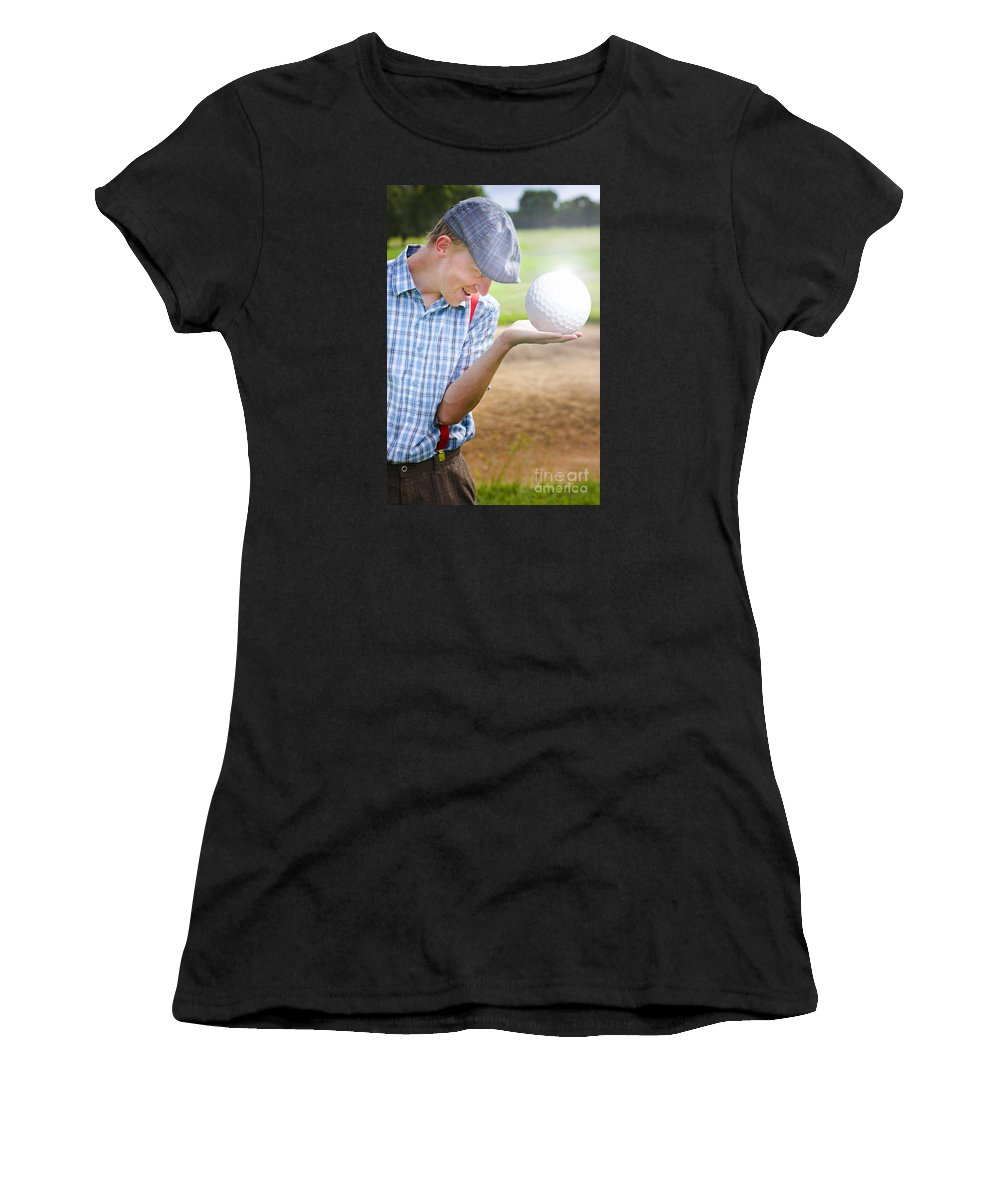 Large Women's T-Shirt featuring the photograph The Golf Of Big Balls by Jorgo Photography - Wall Art Gallery