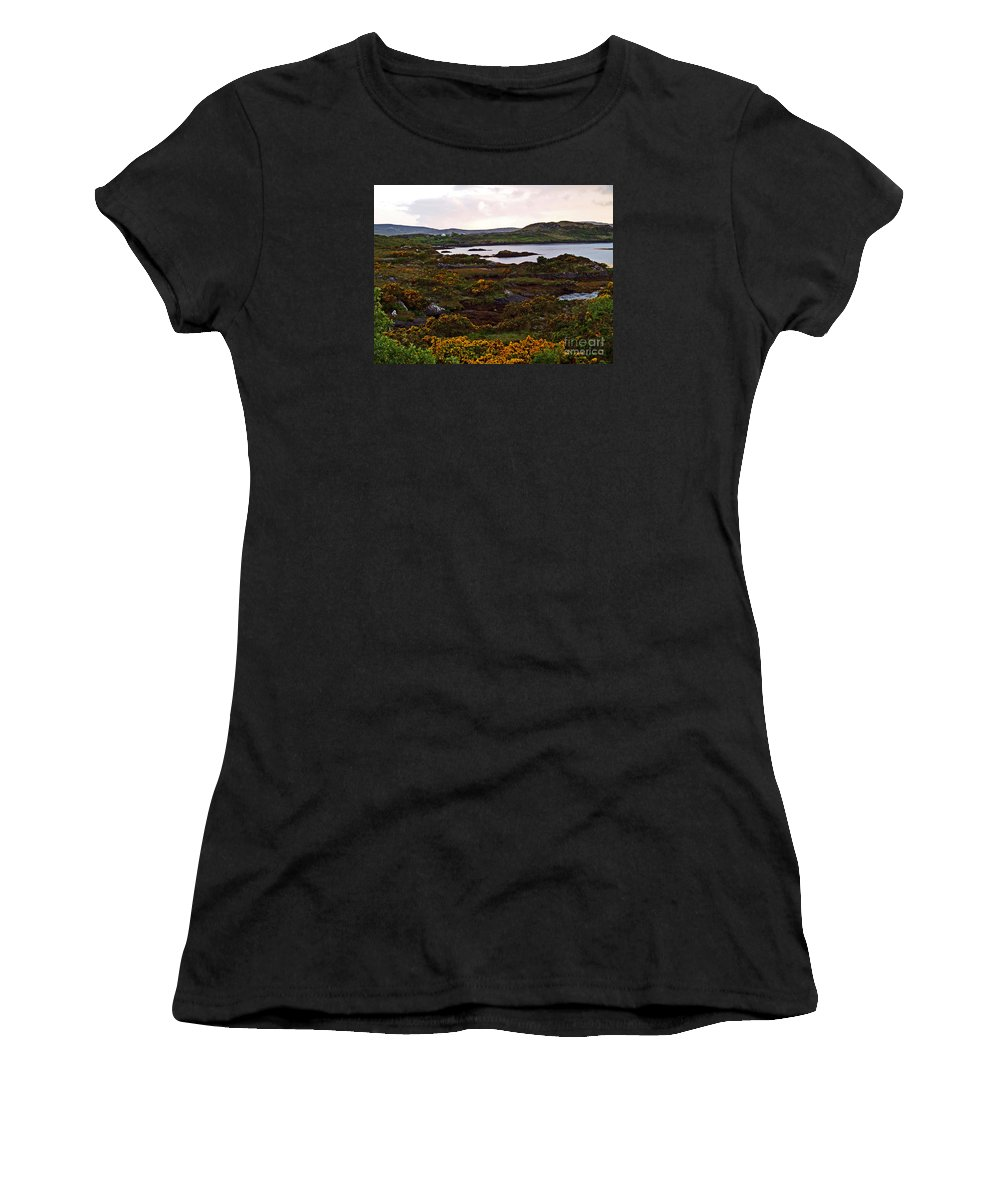 Fine Art Photography Women's T-Shirt featuring the photograph The Gorse It Was Abloomin by Patricia Griffin Brett