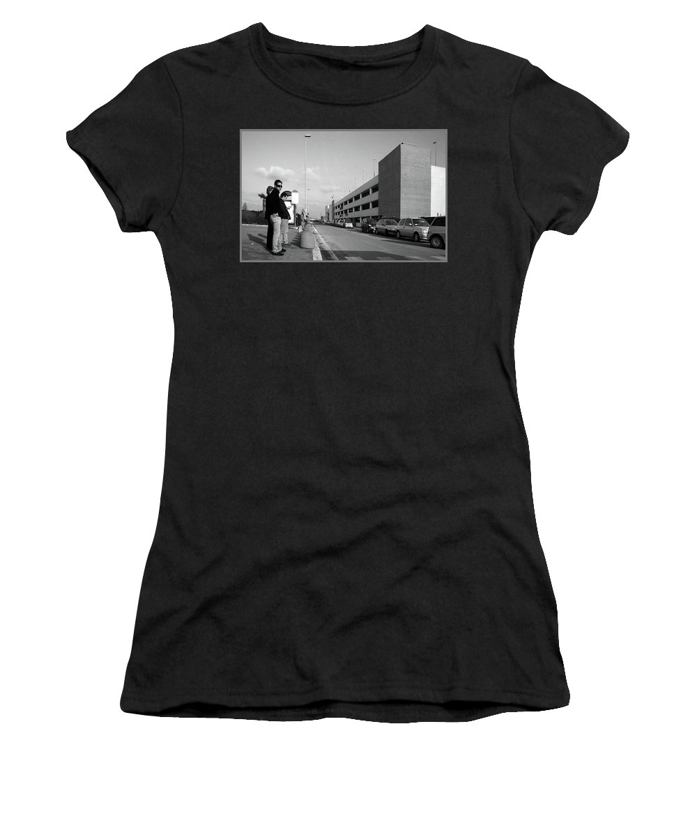 Malls Women's T-Shirt (Athletic Fit) featuring the photograph The Great Mall by Guy Ciarcia
