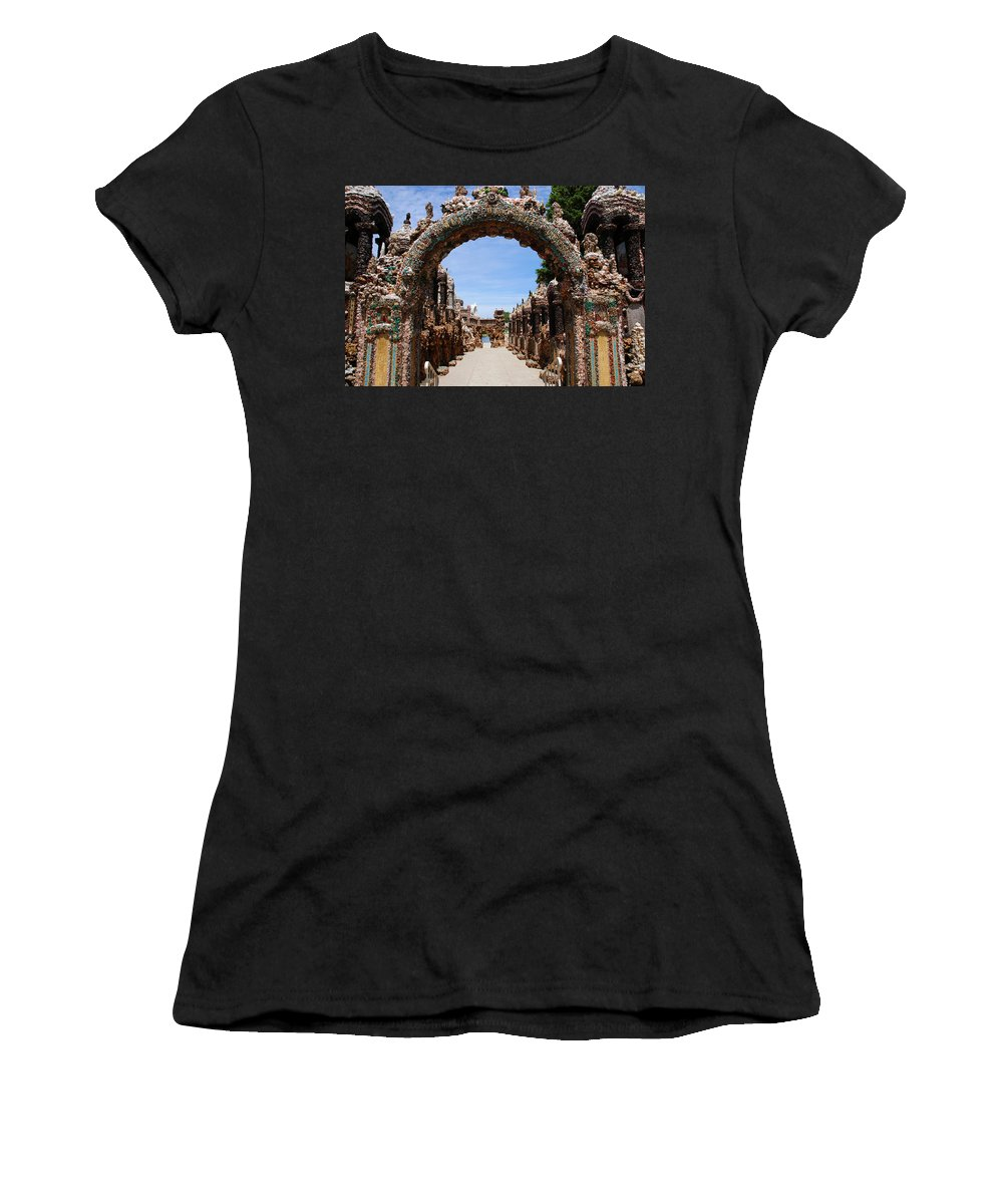 Photography Women's T-Shirt (Athletic Fit) featuring the photograph The Grotto Of Redemption by Susanne Van Hulst