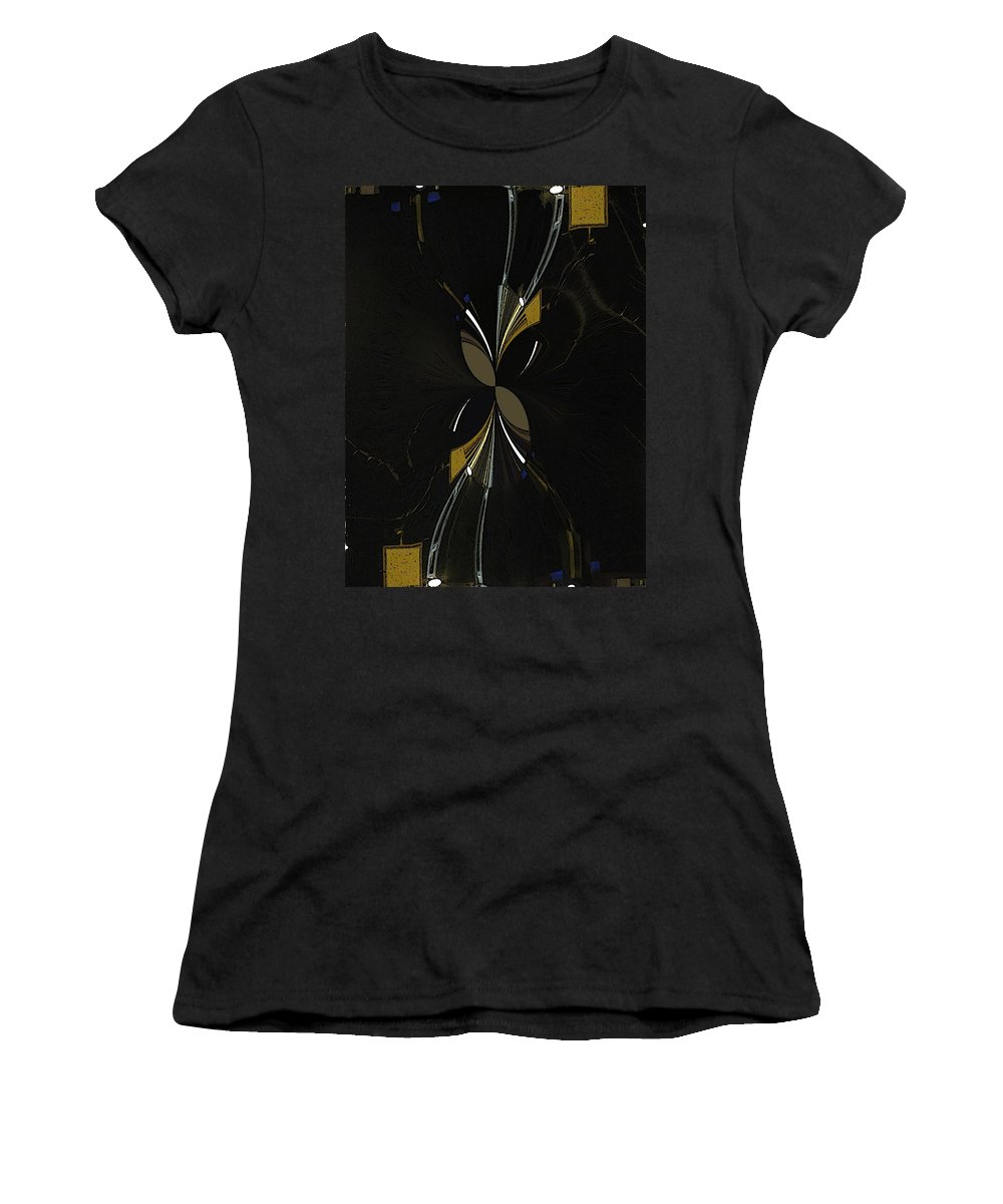 Abstract Women's T-Shirt (Athletic Fit) featuring the digital art The Hourglass by Tim Allen