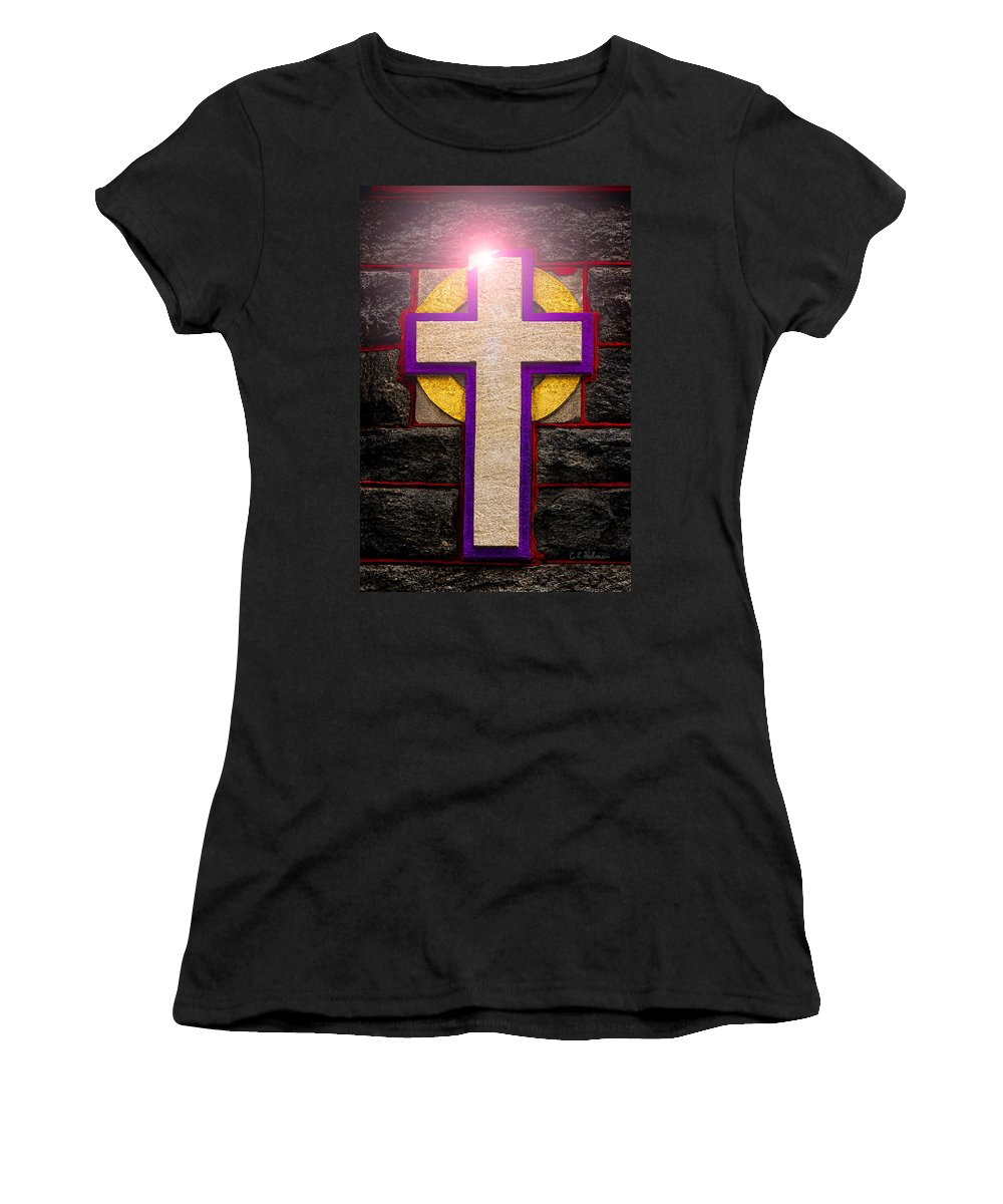 Cross Women's T-Shirt (Athletic Fit) featuring the photograph The Inner Light by Christopher Holmes