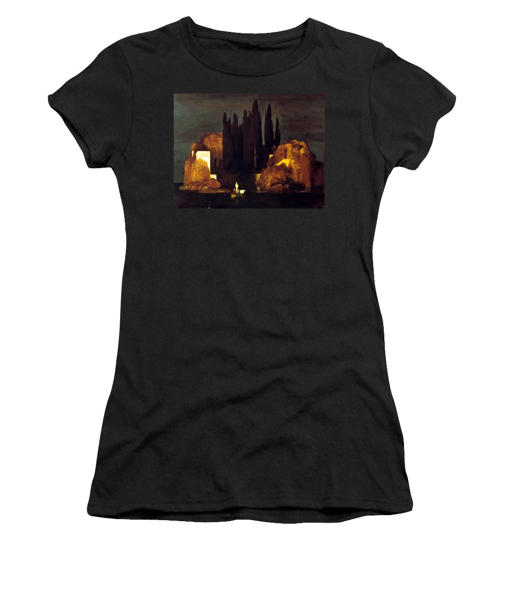 The Women's T-Shirt (Athletic Fit) featuring the painting The Isle Of The Dead 1880 by Bocklin Arnold