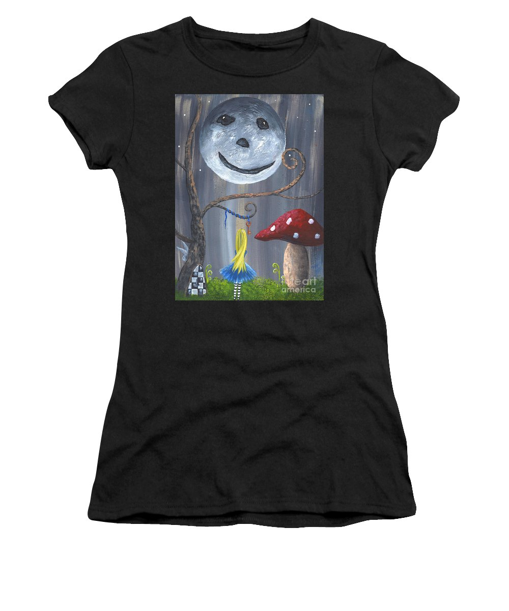 Whimsical Women's T-Shirt (Athletic Fit) featuring the painting The Key by Alexandra Waites