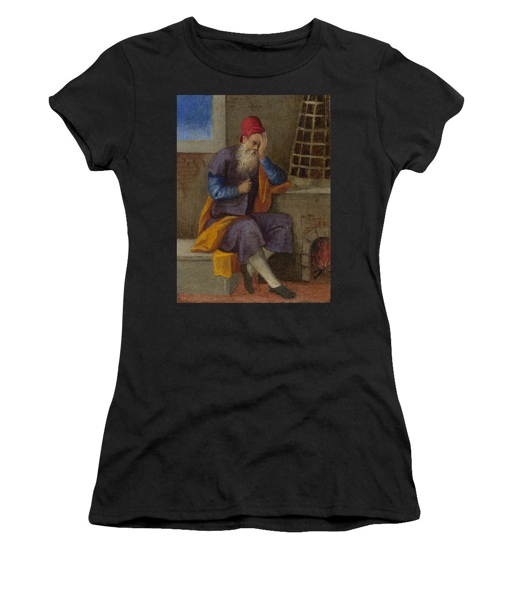 Italian Women's T-Shirt (Athletic Fit) featuring the digital art The Labours Of The Months  January by PixBreak Art