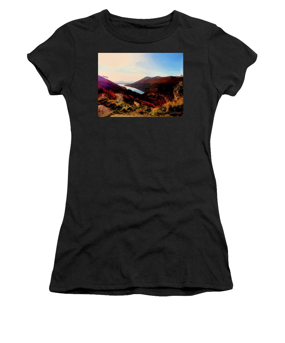 Ushuaia Women's T-Shirt (Athletic Fit) featuring the digital art The Lake by Rinaldo Mendes